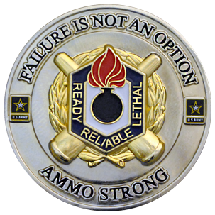 One of our favorite custom challenge coins made for a one star United States Army General. On the front is says