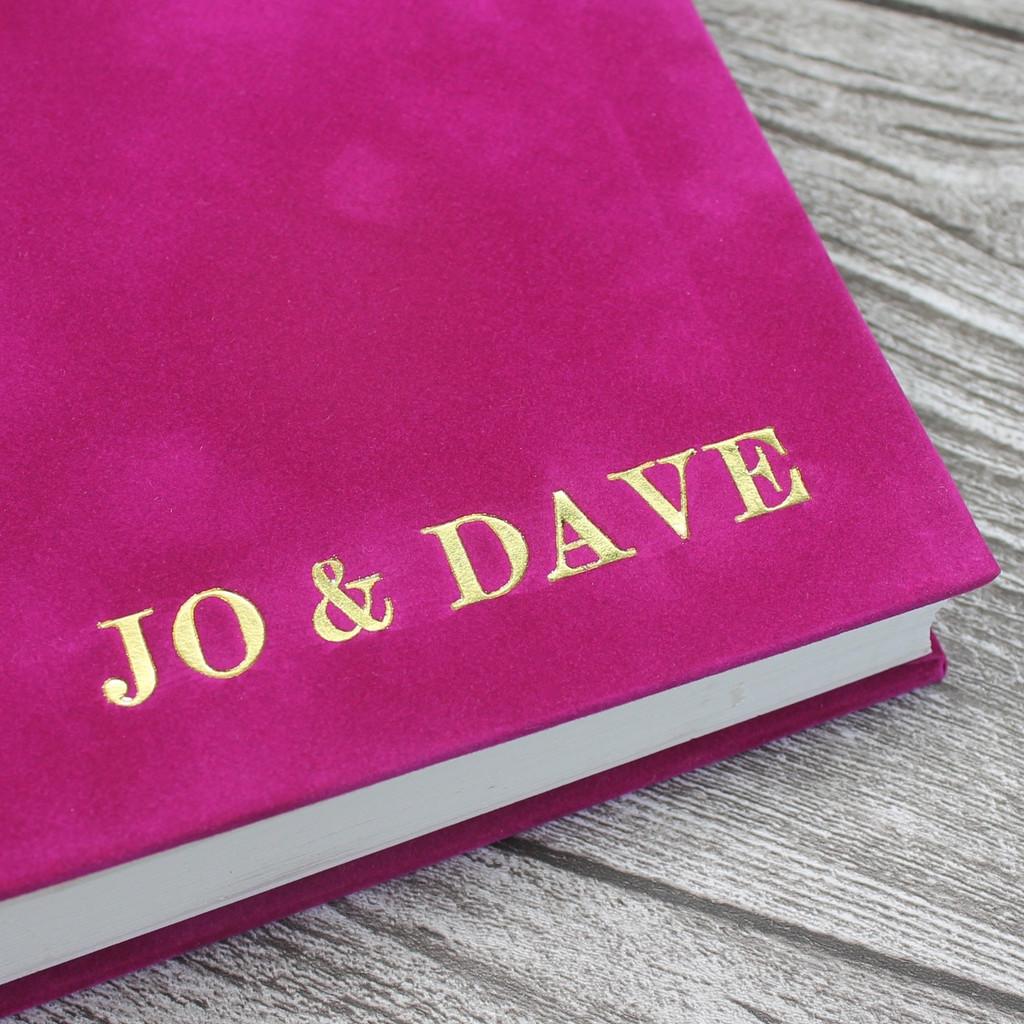 Contemporary Fuchsia Pink Velvety Suede Look Photo Album