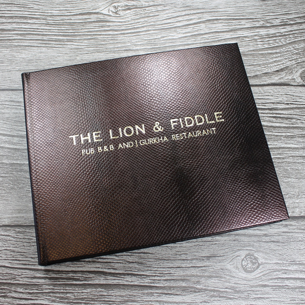 Visitor Guest Book - Mahogany Brown Mamba Effect Leather