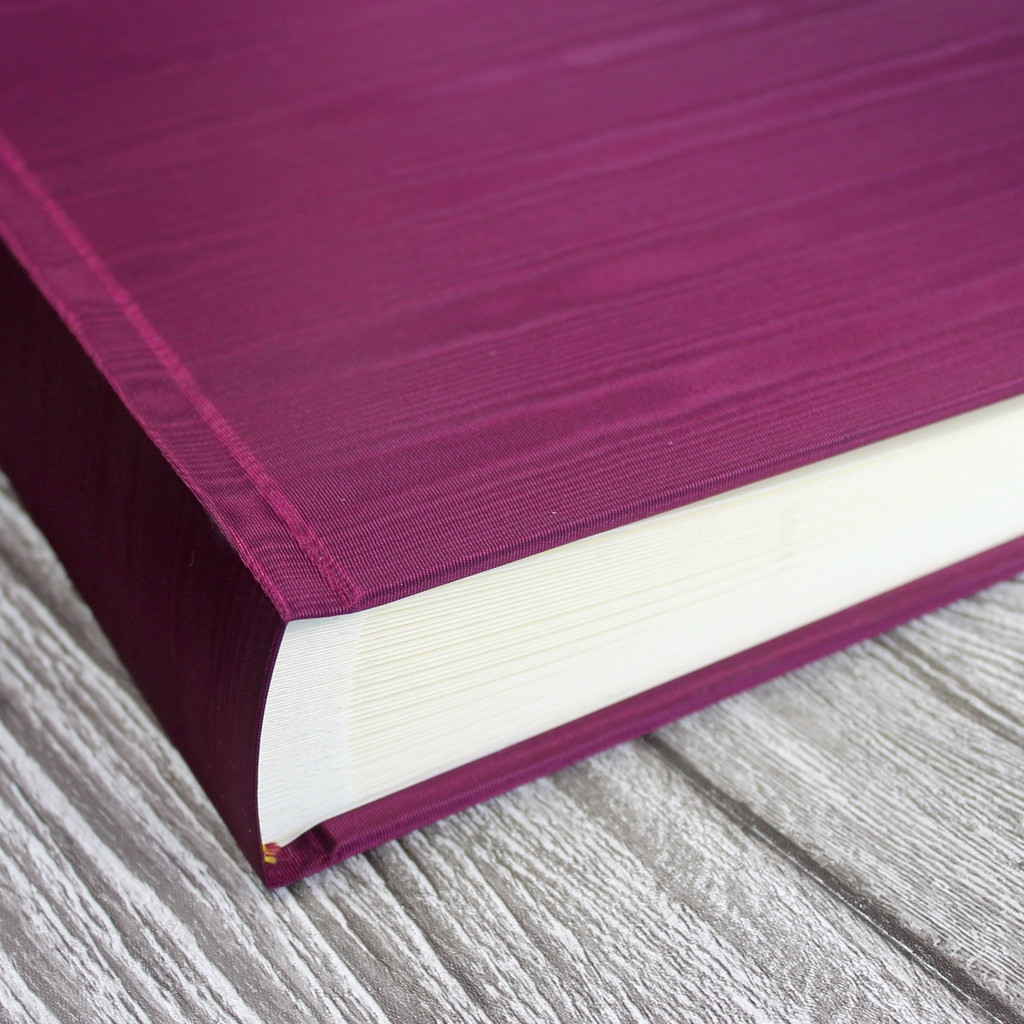 Magenta Moiré Satin Taffeta Photo Album