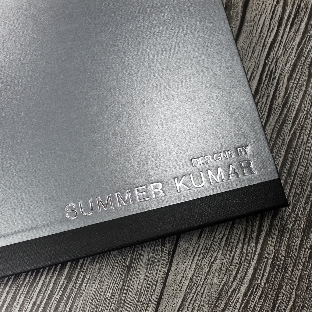A2 Brushed Steel & Black Art Portfolio / Cachet Portfolio