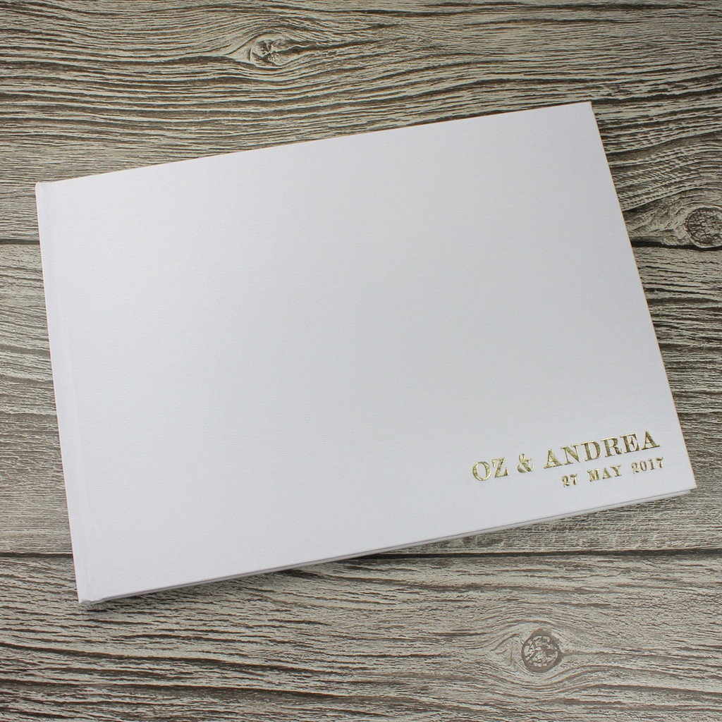 White Satin Photo Booth Guest Book