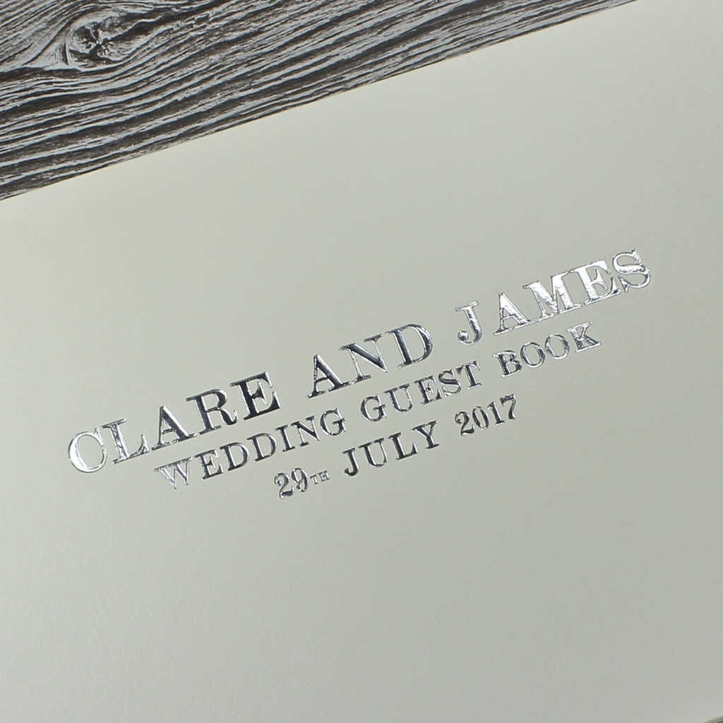 Ivory Leather Photo Booth Guest Book
