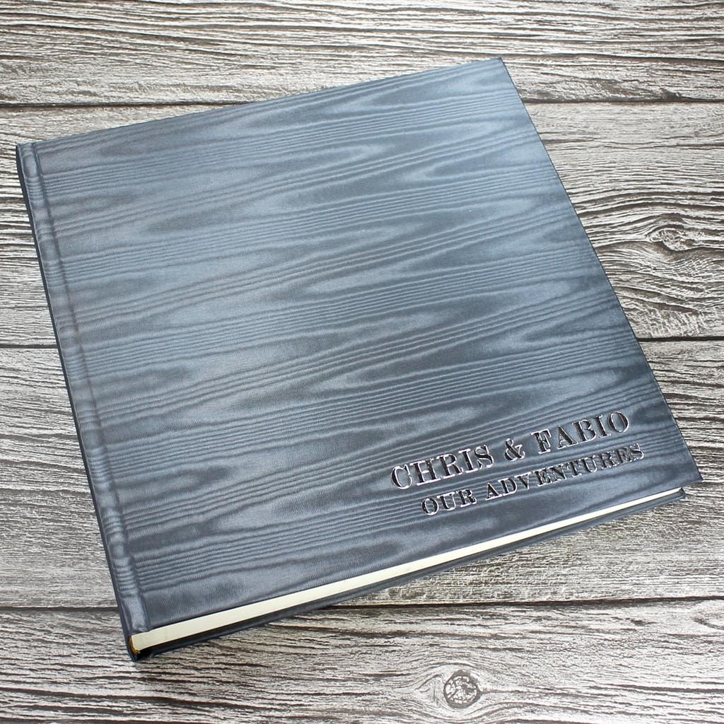 Silver Grey Moiré Satin Taffeta Photo Album
