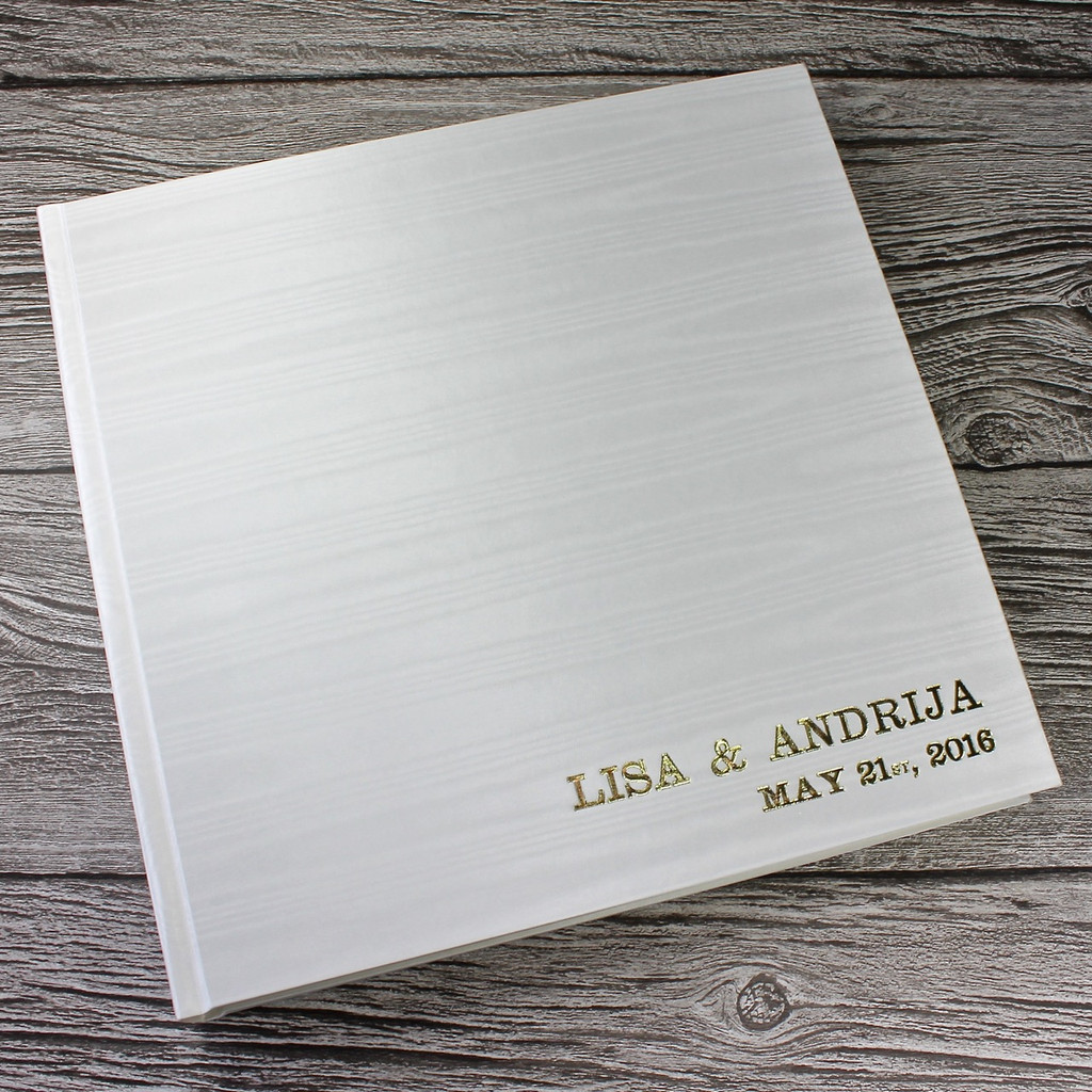 Ivory Moiré Satin Taffeta Photo Album