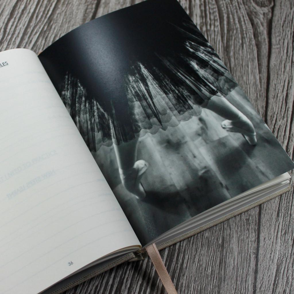 Personalised Linen Ballet Journal - Ballet Diary