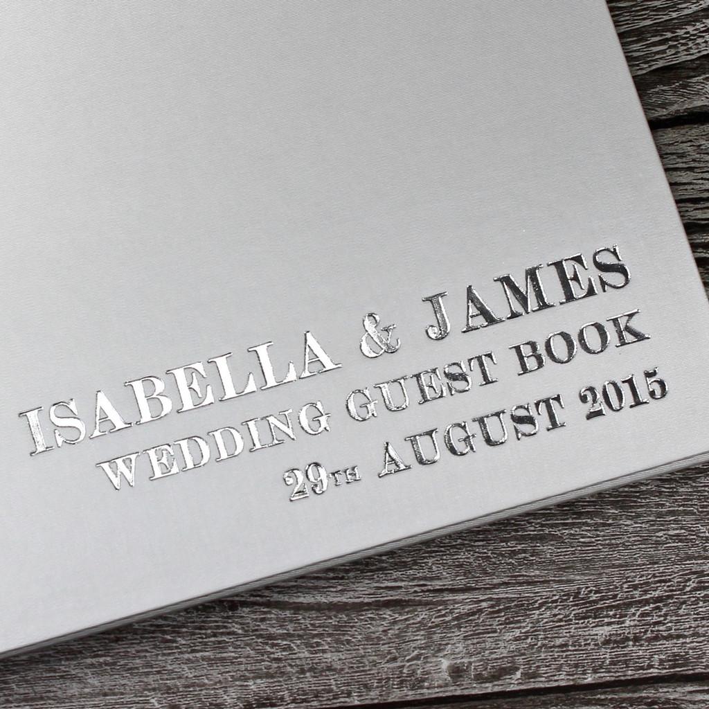 Ivory Satin Wedding Guest Book