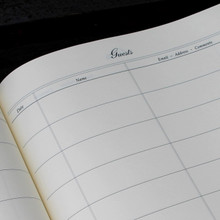 Visitor Guest Book - Onyx Black Mamba Effect Leather