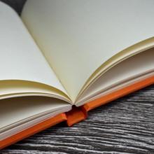 Orange Satin Wedding Guest Book