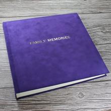 Contemporary Purple Velvety Suede Look Cloth Photo Album