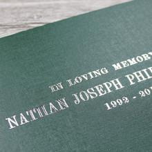Condolence - Remembrance Book - Dark Green
