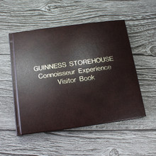 Visitor Guest Book - Cocoa Brown Leather