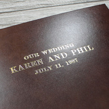Traditional Classic Cocoa Brown Leather Photo Album