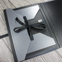 A4 Brushed Steel & Black Art Portfolio / Cachet Portfolio