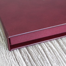 Burgundy Leather Clamshell Box (Box Only)