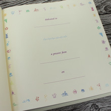 Ivory Leather Baby Girl Memory Record Book - Pink & Ivory