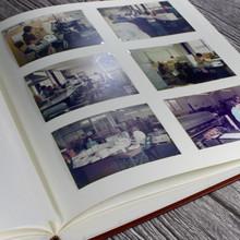 Traditional Dark Grey Leather Photo Album