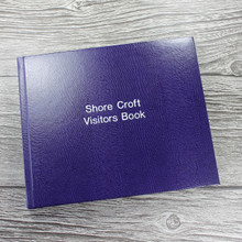 Visitor Guest Book - Purple Lizard Effect Finish
