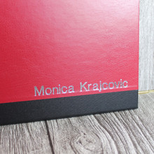 A4 Red & Black Art Portfolio / Cachet Portfolio