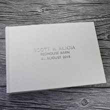 Ivory Linen Photo Booth Guest Book