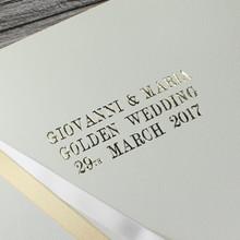 Gold - 50th Wedding Anniversary Photo Album