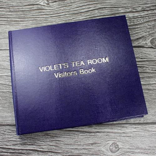 Visitor Guest Book - Purple Lizard Effect Finish