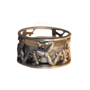 Pewter 3 legs candle holder