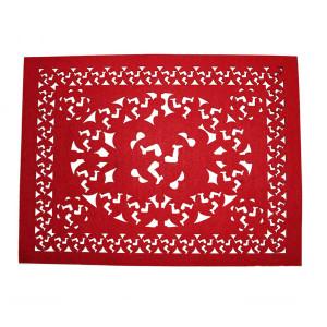 Red 3 legs Felt Tablemats