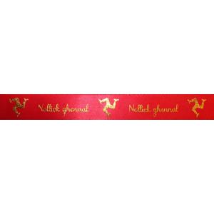 Manx 3 Legs Nollick Ghennal Ribbon 17mm