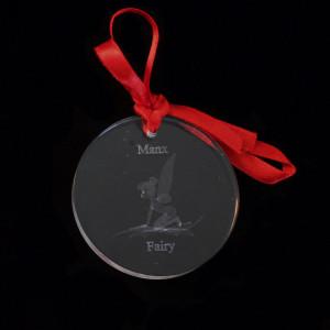 Manx Fairy Glass Decoration
