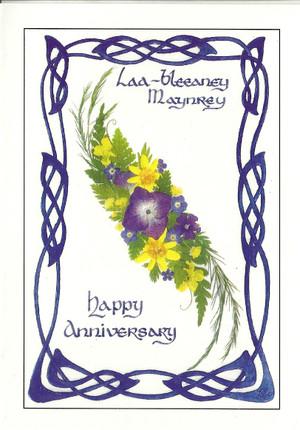 Dorcas Costain-Blann Happy Anniversary Greeeting Card