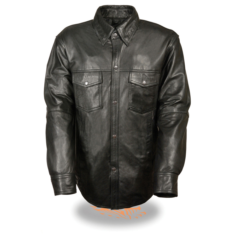 9010 Mens Leather Shirt