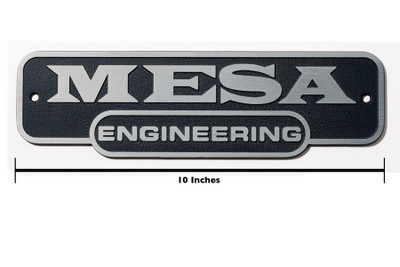Logo Panel - Mesa Engineering - 10""