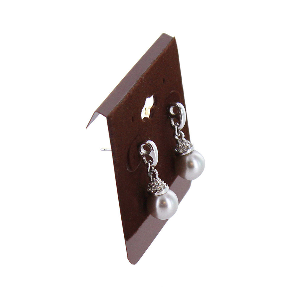 "Hanging Multi-pair Earring Card - Wine Brown, 2 1/2"" x 2"", Price for 100 pcs"