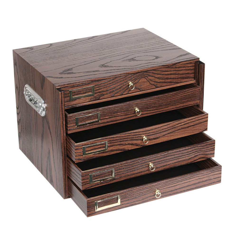Vintage Wood Finish Organizer with 5 Drawers (TY-8825-D31)