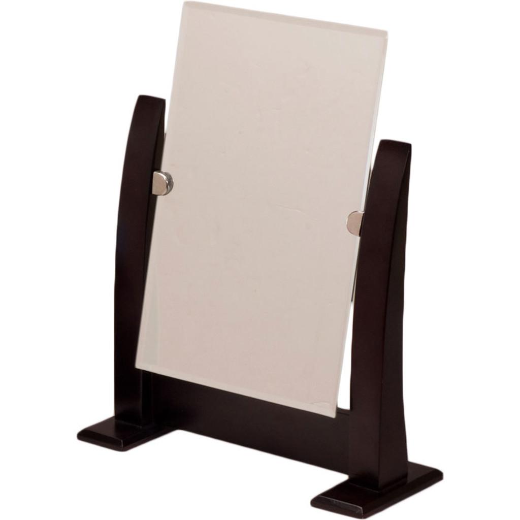 Dark Walnut Wood Frame Countertop Mirror - Eds Box & Supply Co.