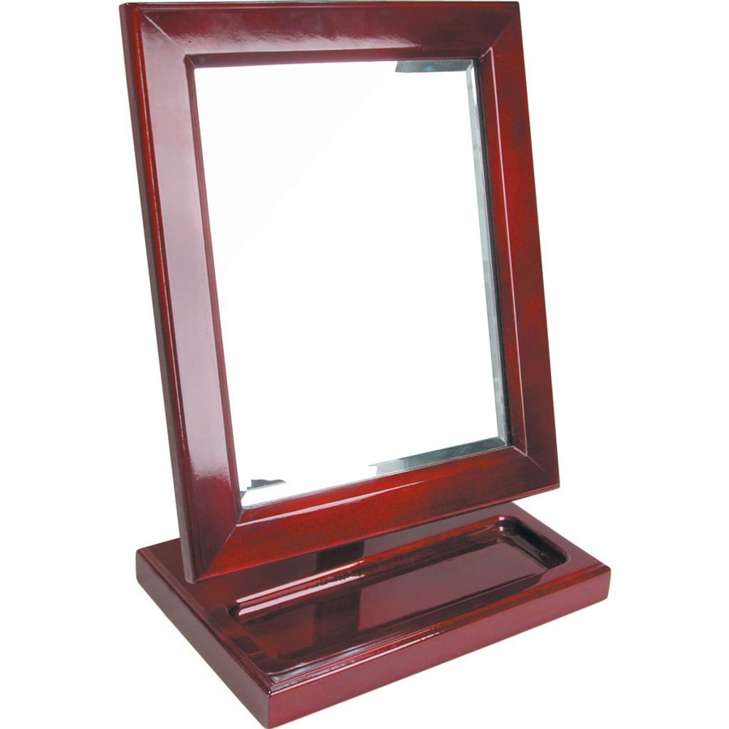 "Rosewood Countertop Mirror with Tray, 10"" x 6 1/4"" x 13 1/2"""