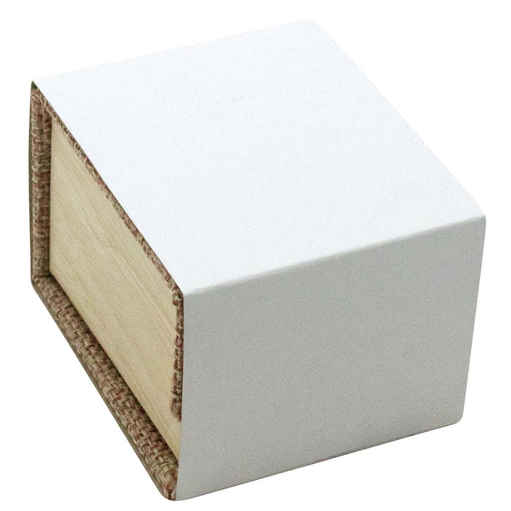 Magnetic Burlap Necklace Box