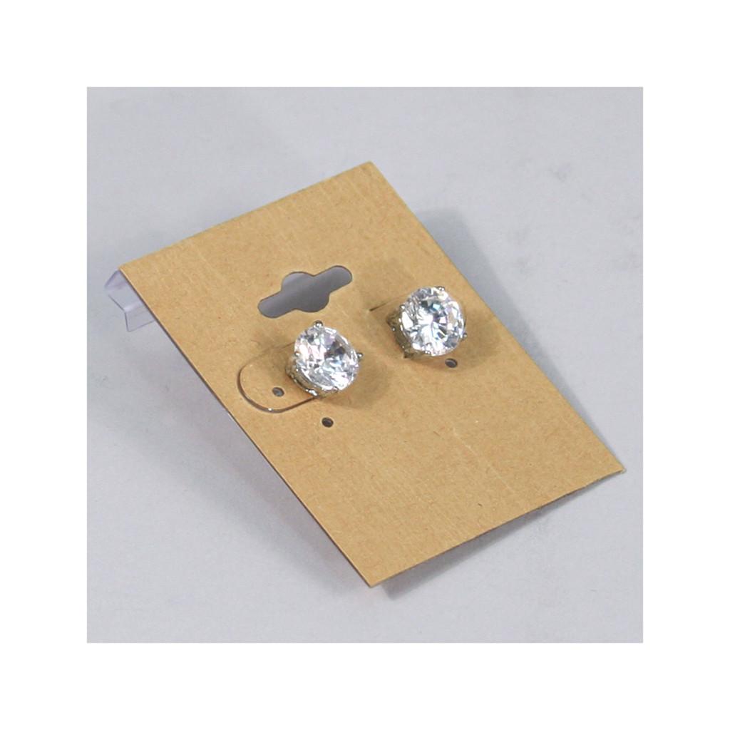 Earring Card Kraft 1 2