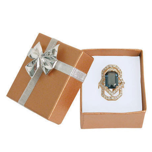 """Bow tie ring box, 2"""" x 2 1/8"""" x 1 3/8"""", Choose from various color"""