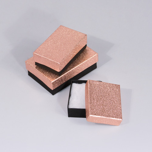 Rose Gold Contton Filled Box,  (Choose from various sizes), price for 100 pcs