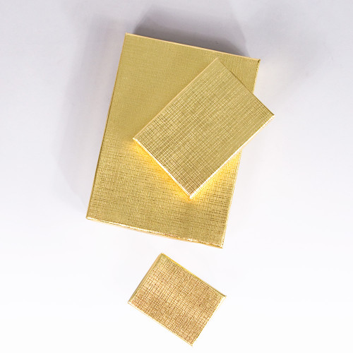 Gold Linen Cotton Filled Boxes (Choose from various sizes) ,price for 100 pcs
