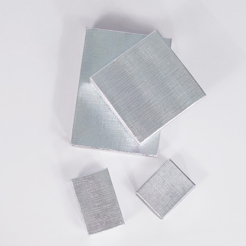 Silver Linen Cotton Filled Boxes (Choose from various sizes) ,price for 100 pcs