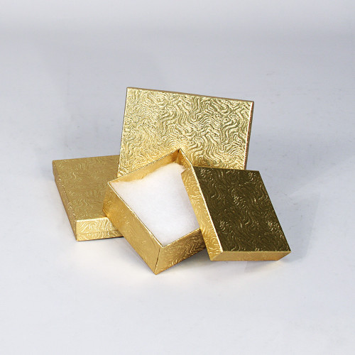 Gold Swirl Cotton Filled Boxes (Choose from various sizes) ,price for 100 pcs