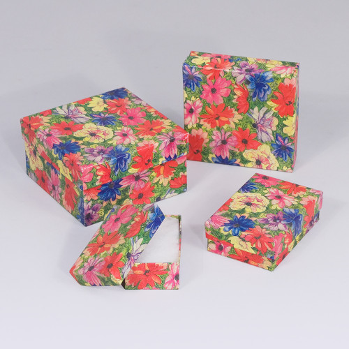 Floral Cotton Filled Boxes (Choose from various sizes), price for 100pcs
