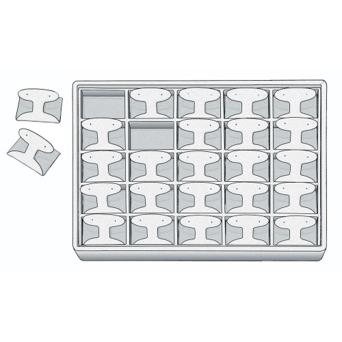 """Stackable Earring Tray, 12 1/2"""" W x 8 3/4"""" D x 1 7/8"""" H ET1226 (WH)"""