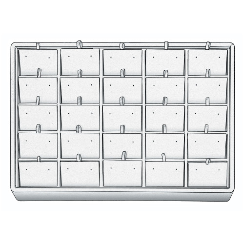 "Stackable Earring Tray, 12 1/2"" W x 8 3/4"" D x 1 7/8"" H ET1225 (WH)"