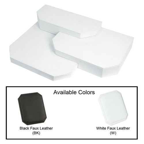 "3-Pieces Leather Base Set, 18 1/2"" x 14"" x 3 7/8""H"