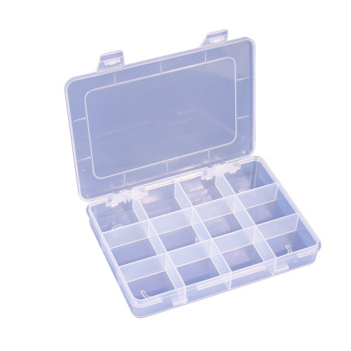 """12-Compartments, Frosted White Plastic Organizer, 7 1/4"""" x 5 1/2"""" x  3/4""""H"""