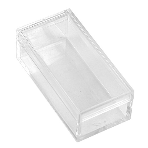 "Acrylic Rectangular Gem Box, 2"" x 1"" x 3/4""H,Choose from various inner color , Price for 100 pieces"